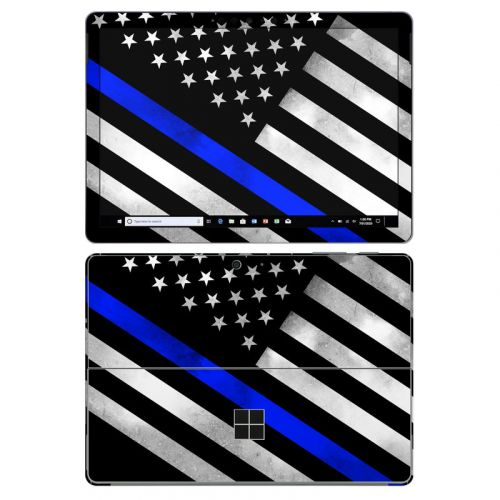 Thin Blue Line Hero Microsoft Surface Go 2 Skin
