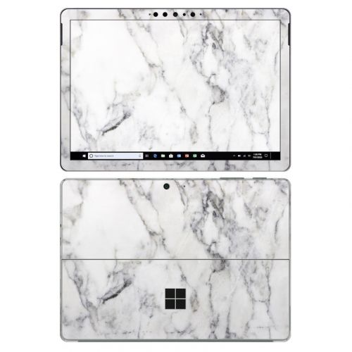 White Marble Microsoft Surface Go 2 Skin