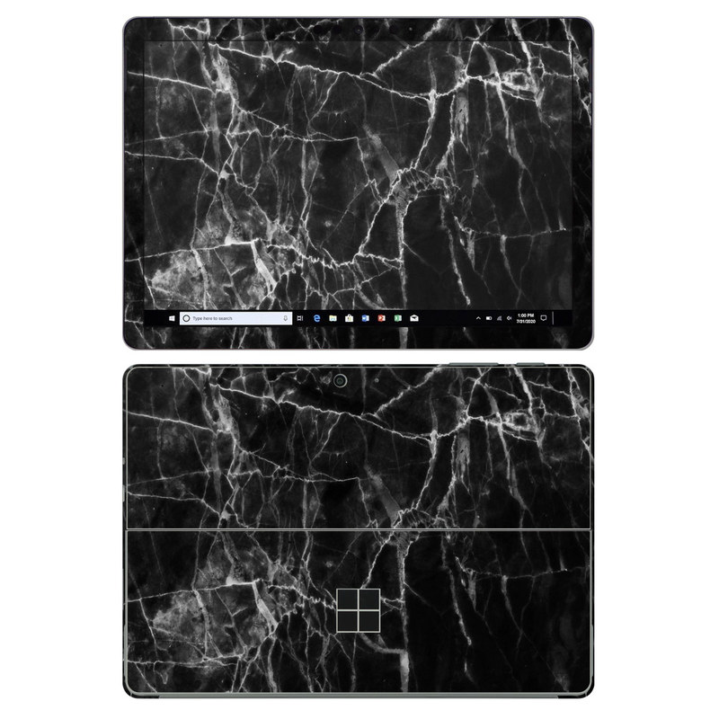 Microsoft Surface Go 2 Skin design of Black, White, Nature, Black-and-white, Monochrome photography, Branch, Atmosphere, Atmospheric phenomenon, Tree, Sky with black, white colors