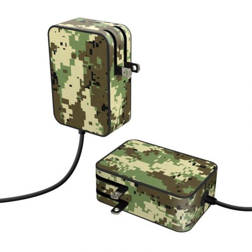 Digital Woodland Camo Microsoft Surface Go Power Supply Skin