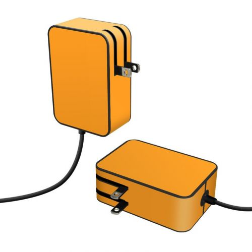 Solid State Orange Microsoft Surface Go Power Supply Skin