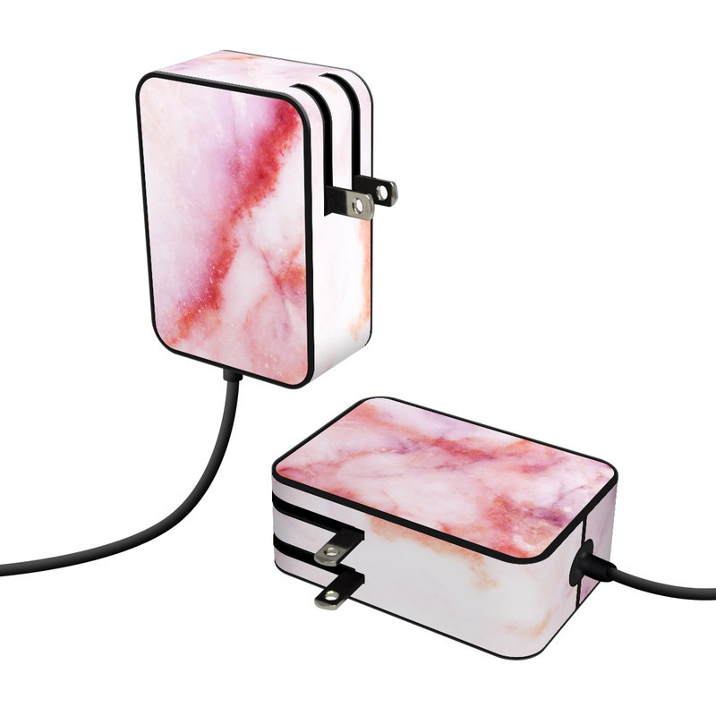 Microsoft Surface Go Power Supply Skin design of Pink, Skin, Flesh, Textile, Fur with pink, red, white, purple, orange colors