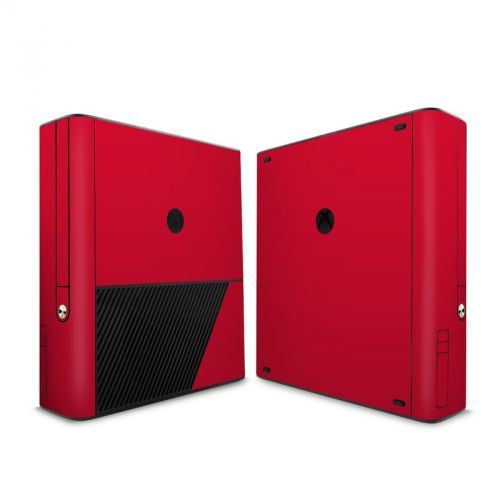 Solid State Red Xbox 360 E Skin