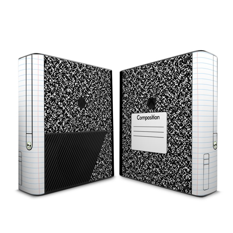 Xbox 360 E Skin design of Text, Font, Line, Pattern, Black-and-white, Illustration with black, gray, white colors