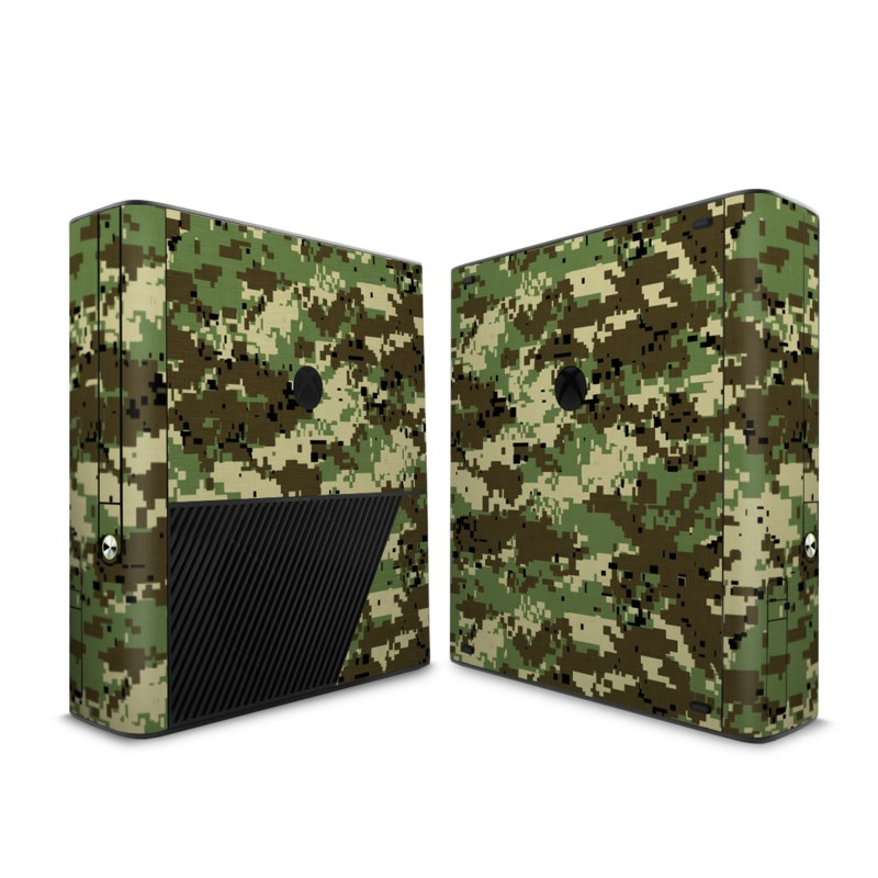 Xbox 360 E Skin design of Military camouflage, Pattern, Camouflage, Green, Uniform, Clothing, Design, Military uniform with black, gray, green colors