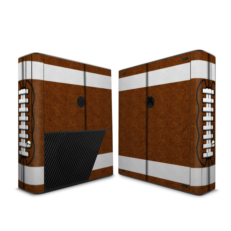 Xbox 360 E Skin design of Brown, Beige, Pattern with black, gray, red, white colors