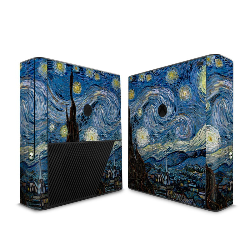 Xbox 360 E Skin design of Painting, Purple, Art, Tree, Illustration, Organism, Watercolor paint, Space, Modern art, Plant with gray, black, blue, green colors