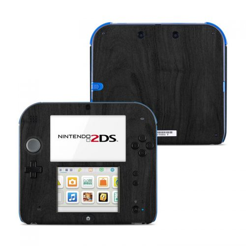 Black Woodgrain Nintendo 2DS Skin