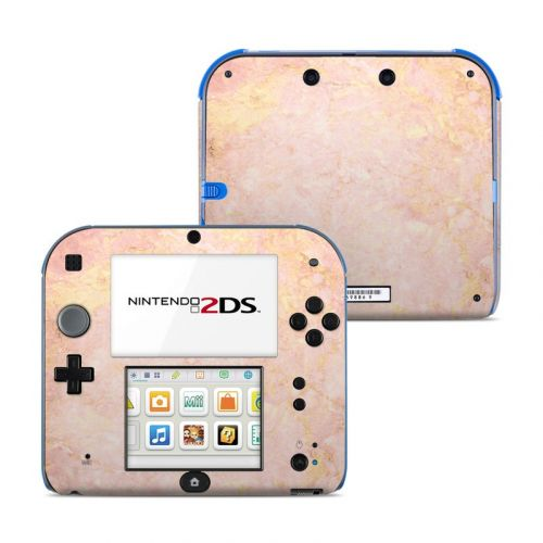 Rose Gold Marble Nintendo 2DS Skin