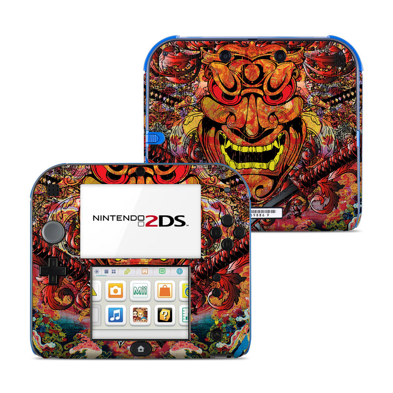 Nintendo 2DS Skin design of Art, Psychedelic art, Visual arts, Illustration, Fictional character, Demon with red, orange, yellow colors