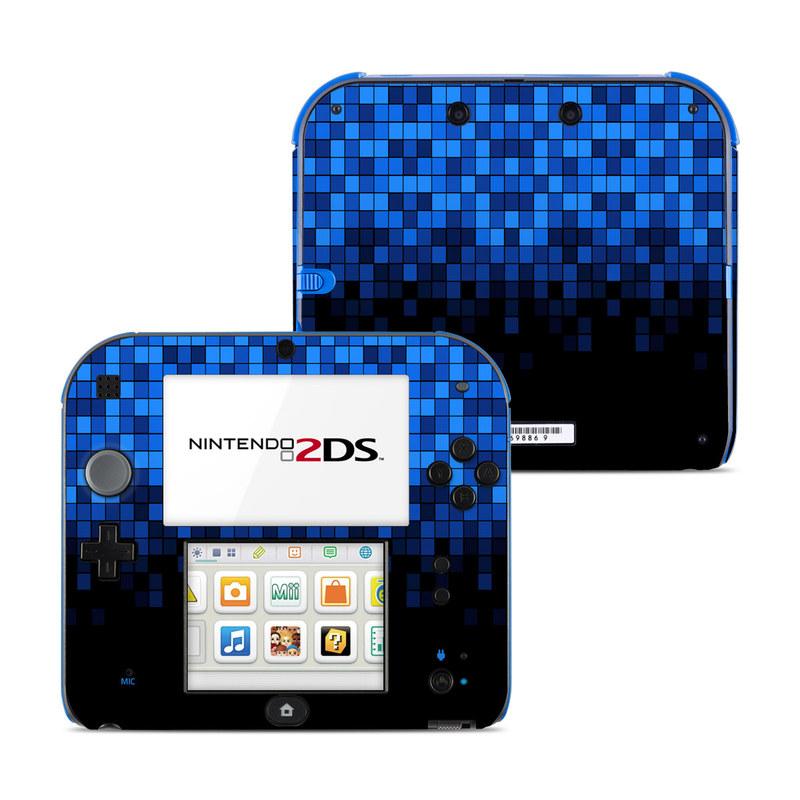 Nintendo 2DS Skin design of Cobalt blue, Blue, Electric blue, Violet, Black, Purple, Pattern, Symmetry, Azure, Majorelle blue with black, blue colors