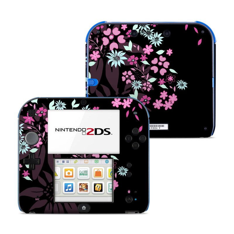 Dark Flowers Nintendo 2DS Skin