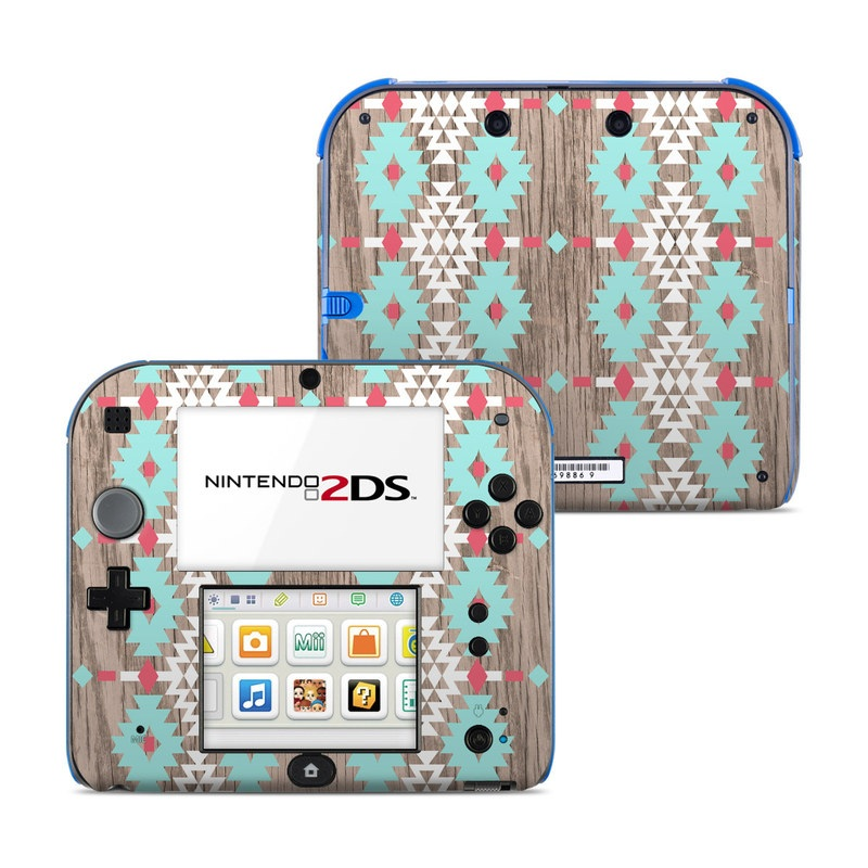 Nintendo 2DS Skin design of Pattern, Brown, Textile, Line, Pink, Design, Quilt, Beige, Symmetry with gray, white, purple, green colors
