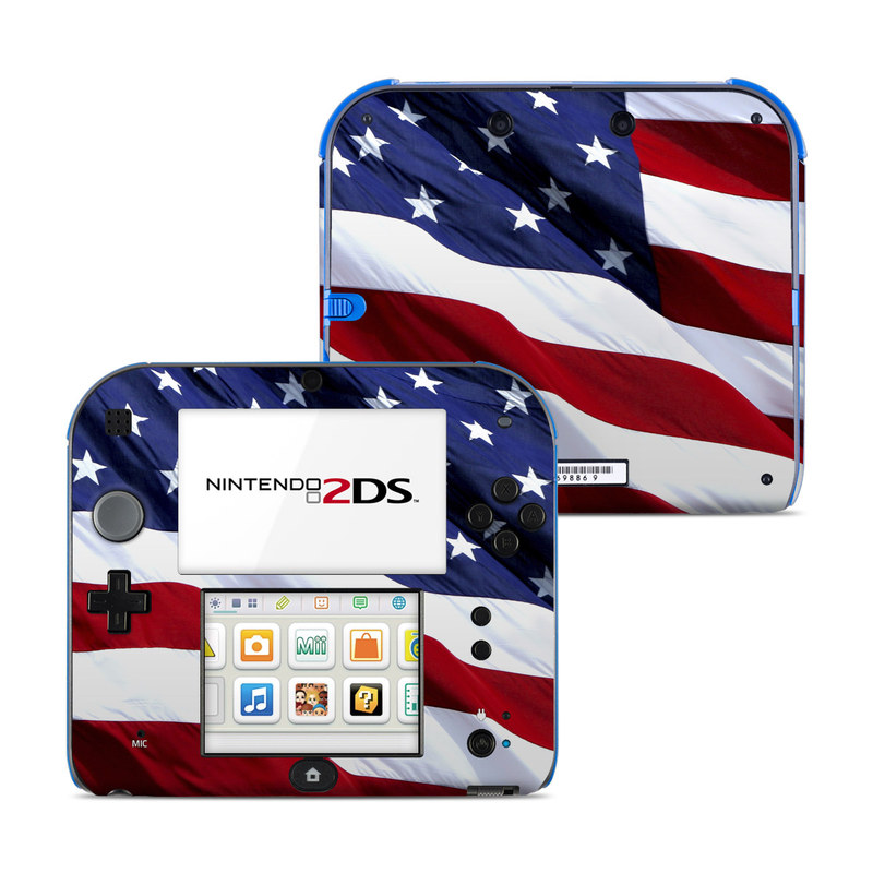 Patriotic Nintendo 2DS Skin - Covers Nintendo 2DS for custom style and ...