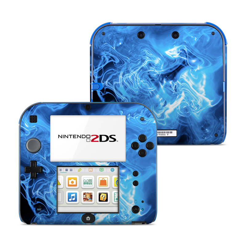 Blue Quantum Waves Nintendo 2DS Skin
