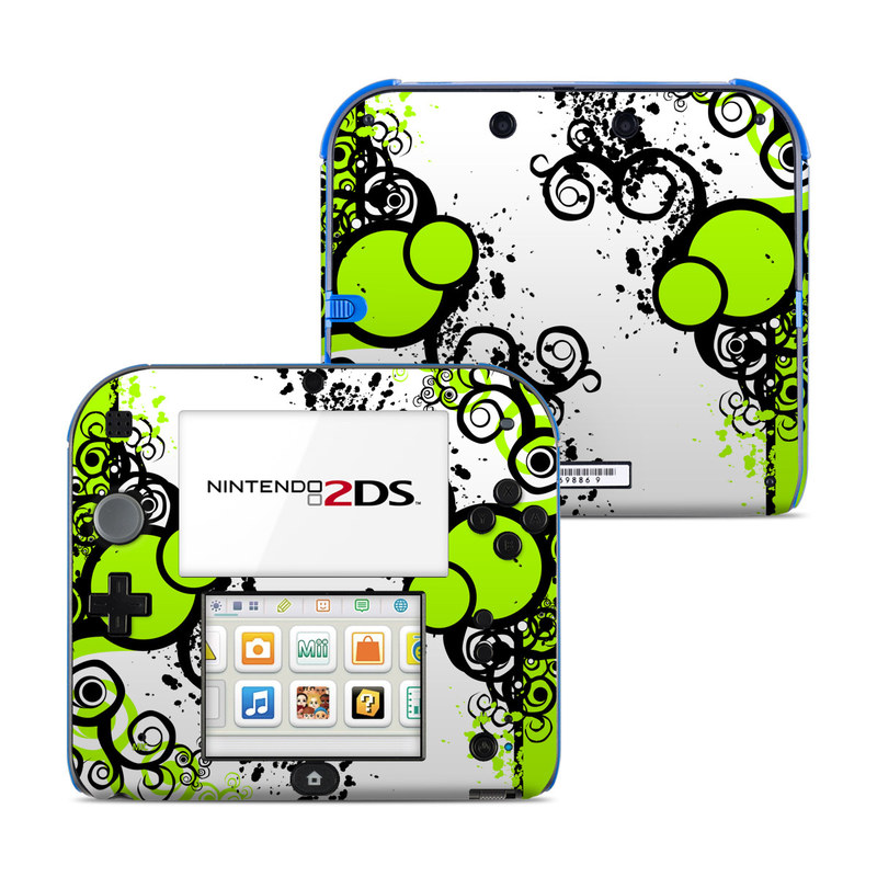 Simply Green Nintendo 2DS Skin
