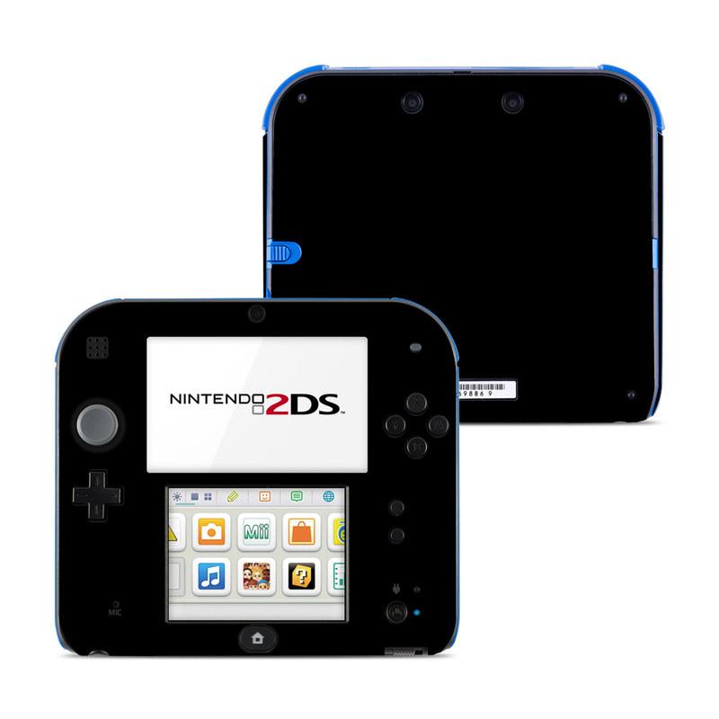 Solid State Black Nintendo 2DS Skin