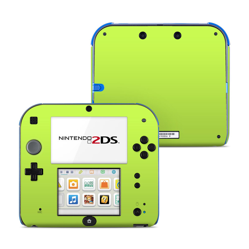 Solid State Lime Nintendo 2DS Skin