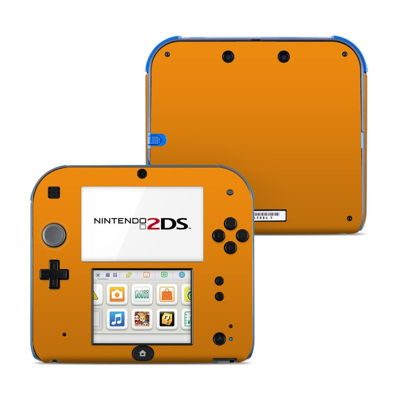 Solid State Orange Nintendo 2DS Skin