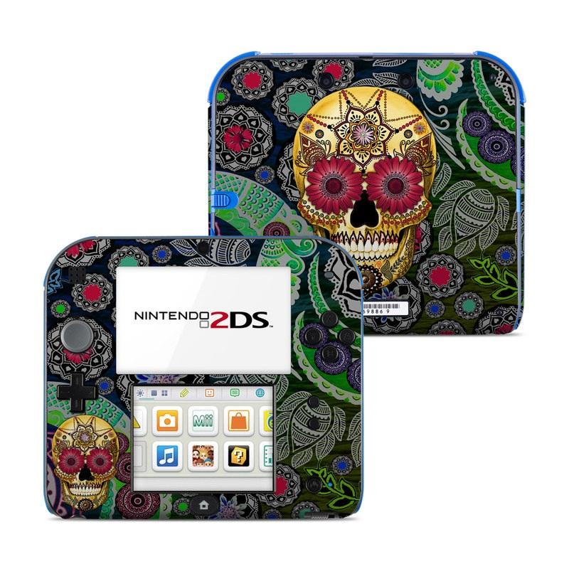 Sugar Skull Paisley Nintendo 2DS Skin