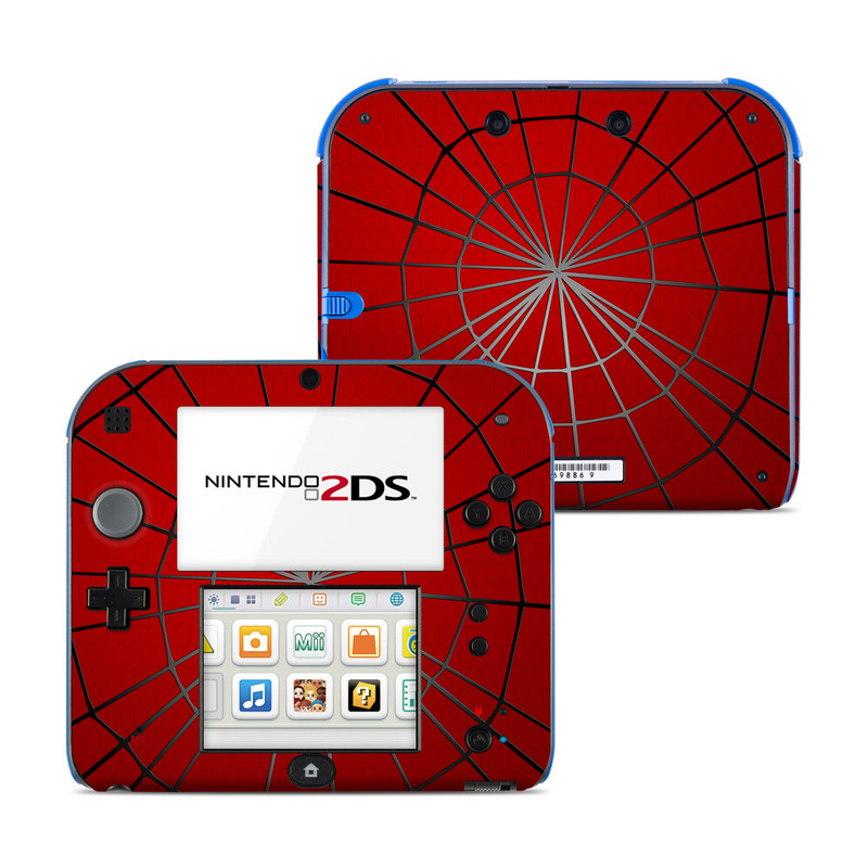 Nintendo 2DS Skin design of Red, Symmetry, Circle, Pattern, Line with red, black, gray colors