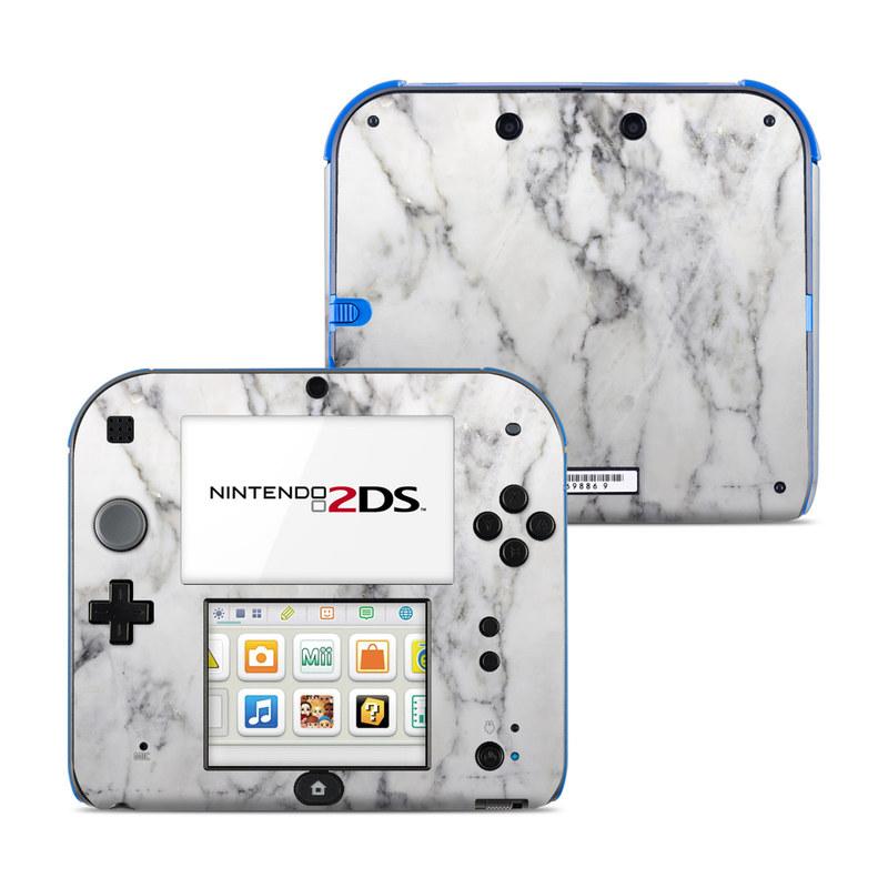 White Marble Nintendo 2DS Skin