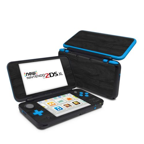 Black Woodgrain Nintendo 2DS XL Skin