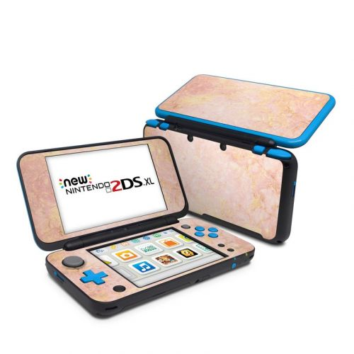 Rose Gold Marble Nintendo 2DS XL Skin