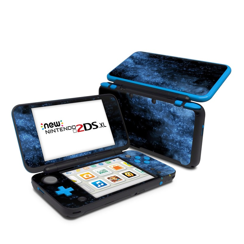 Nintendo 2DS XL Skin design of Sky, Atmosphere, Black, Blue, Outer space, Atmospheric phenomenon, Astronomical object, Darkness, Universe, Space with black, blue colors