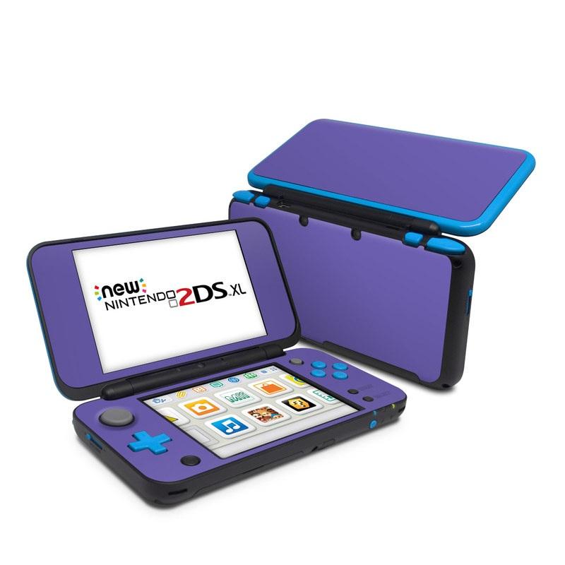 Nintendo 2DS XL Skin design of Blue, Violet, Sky, Purple, Daytime, Black, Lilac, Cobalt blue, Pink, Azure with purple colors