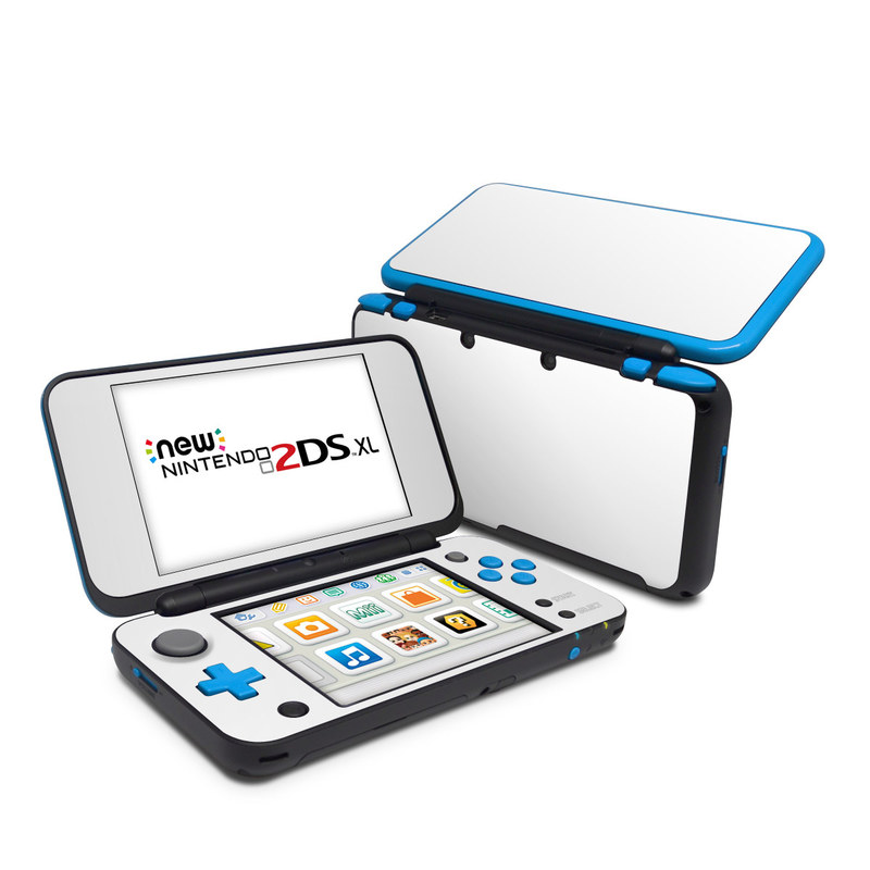 Nintendo 2DS XL Skin design of White, Black, Line with white colors
