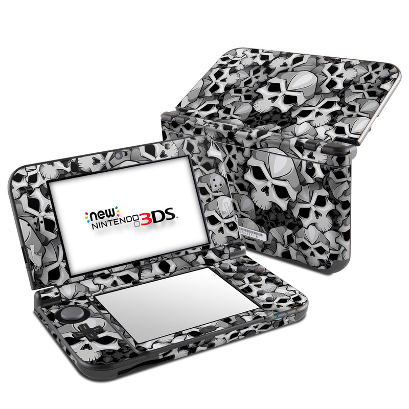Nintendo 3DS XL Skin design of Pattern, Black-and-white, Monochrome, Ball, Football, Monochrome photography, Design, Font, Stock photography, Photography with gray, black colors