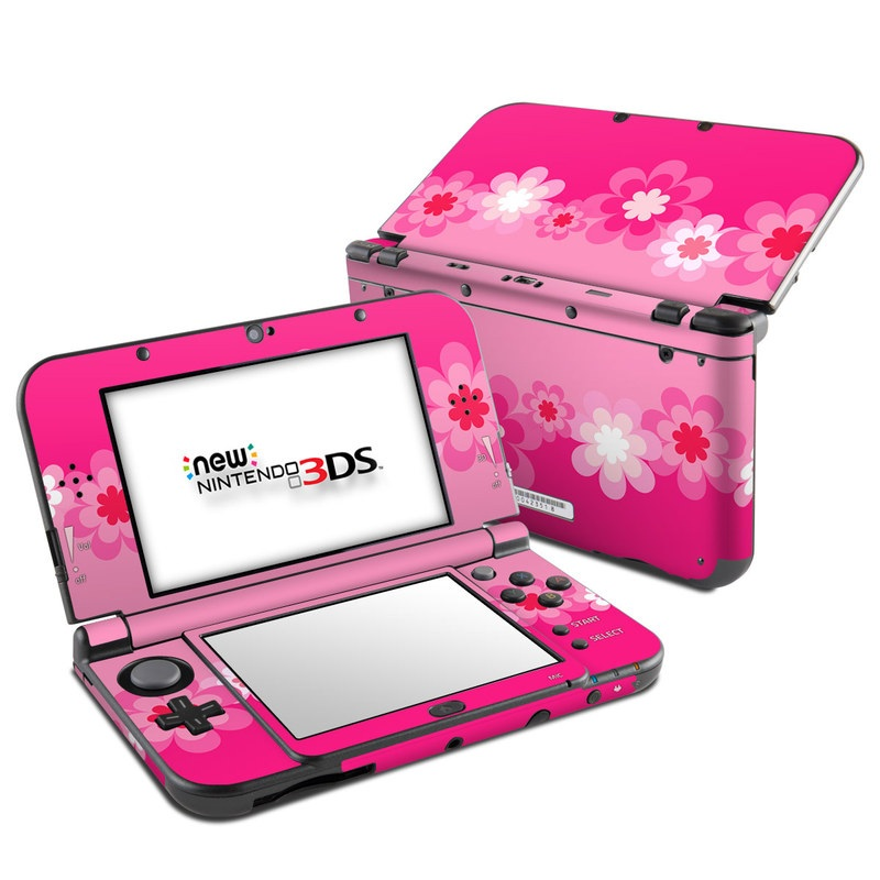 Retro Pink Flowers Nintendo 3DS XL (2015) Skin