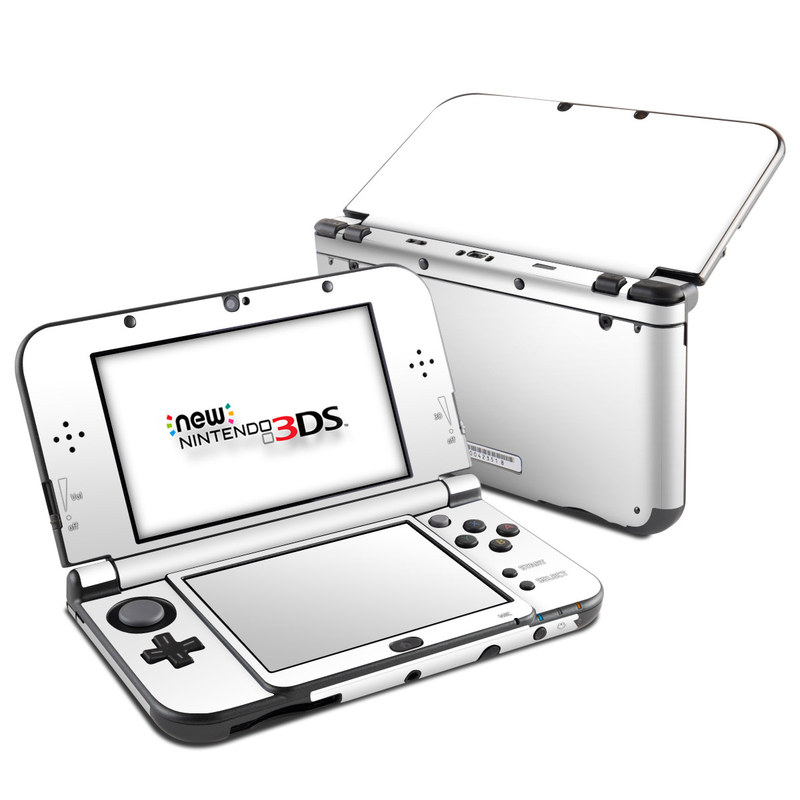 Solid State White Nintendo 3DS XL (2015) Skin