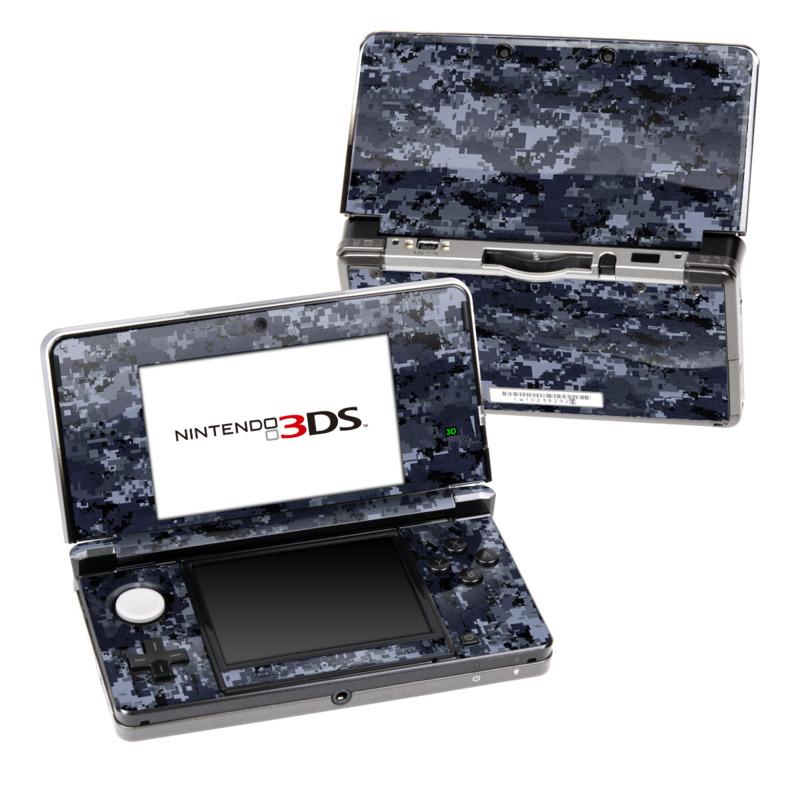 Digital Navy Camo Nintendo 3DS (Original) Skin