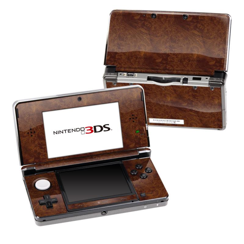 Dark Burlwood Nintendo 3DS Skin