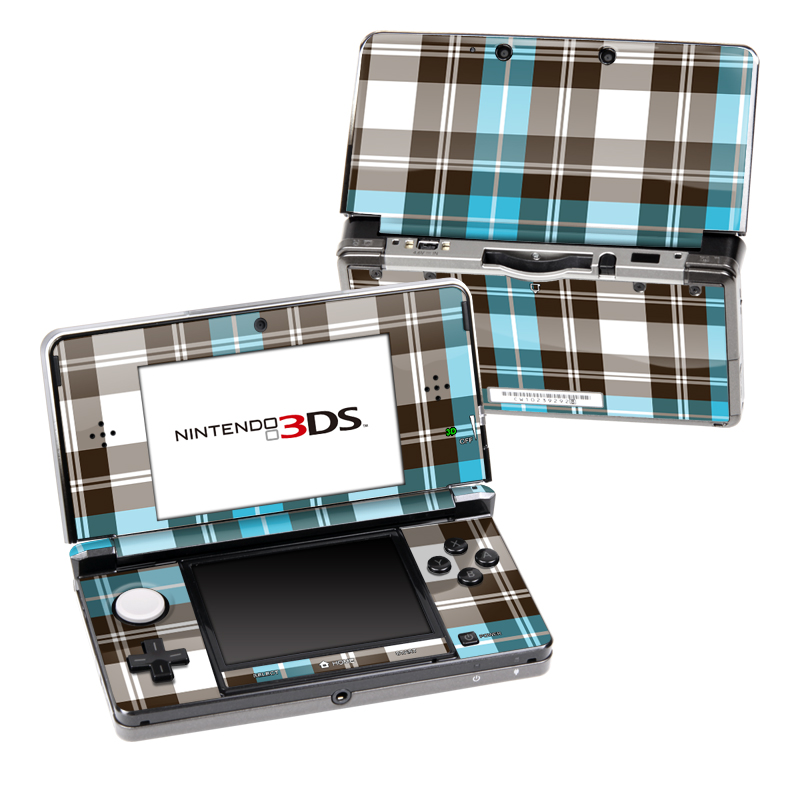 Turquoise Plaid Nintendo 3DS Skin