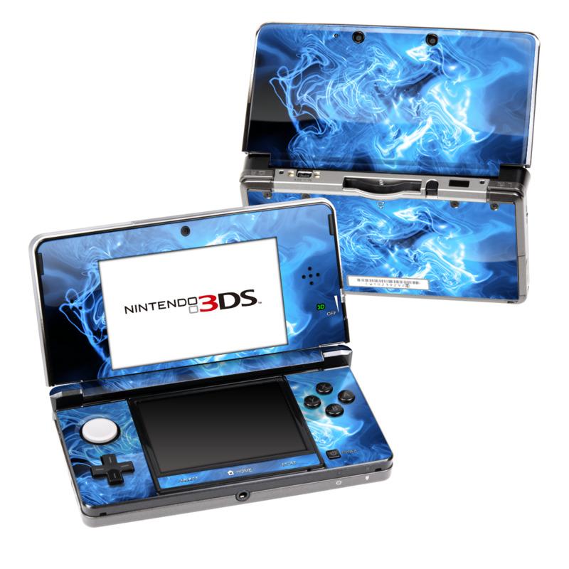 Blue Quantum Waves Nintendo 3DS (Original) Skin