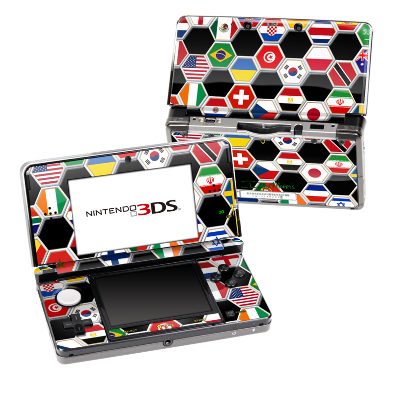 Soccer Flags Nintendo 3DS (Original) Skin