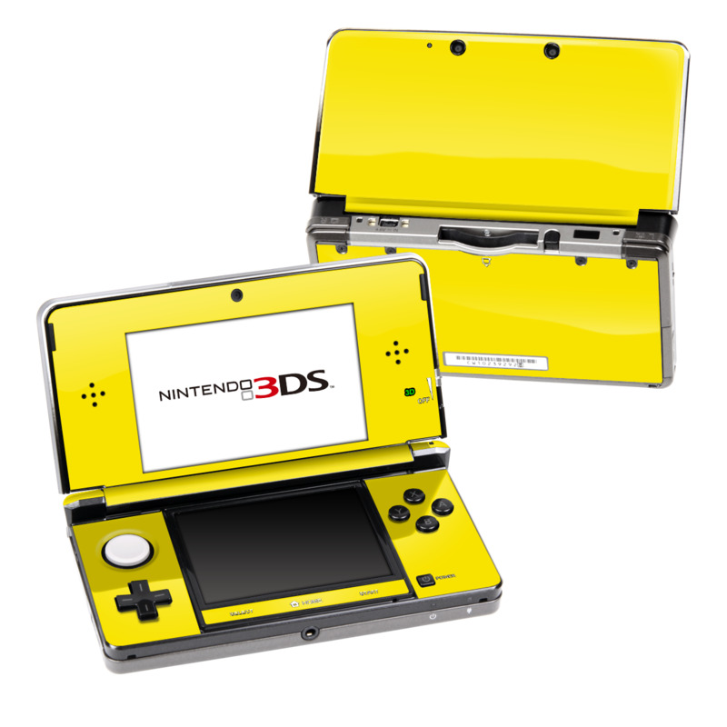 Solid State Yellow Nintendo 3DS (Original) Skin