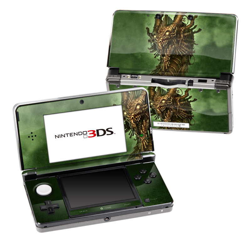 Nintendo 3DS Original Skin design of Illustration, Cg artwork, Fictional character, Mythology, Warlord, Art with black, green, red, gray colors