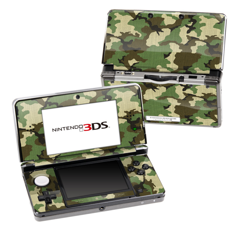 Woodland Camo Nintendo 3DS Skin