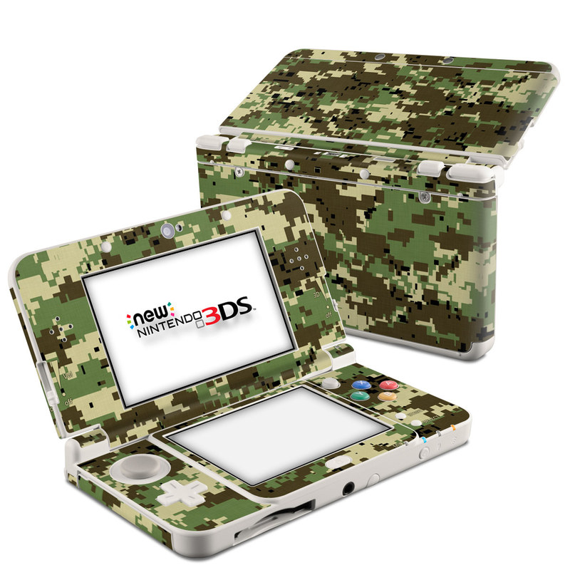 Digital Woodland Camo Nintendo 3DS (2015) Skin