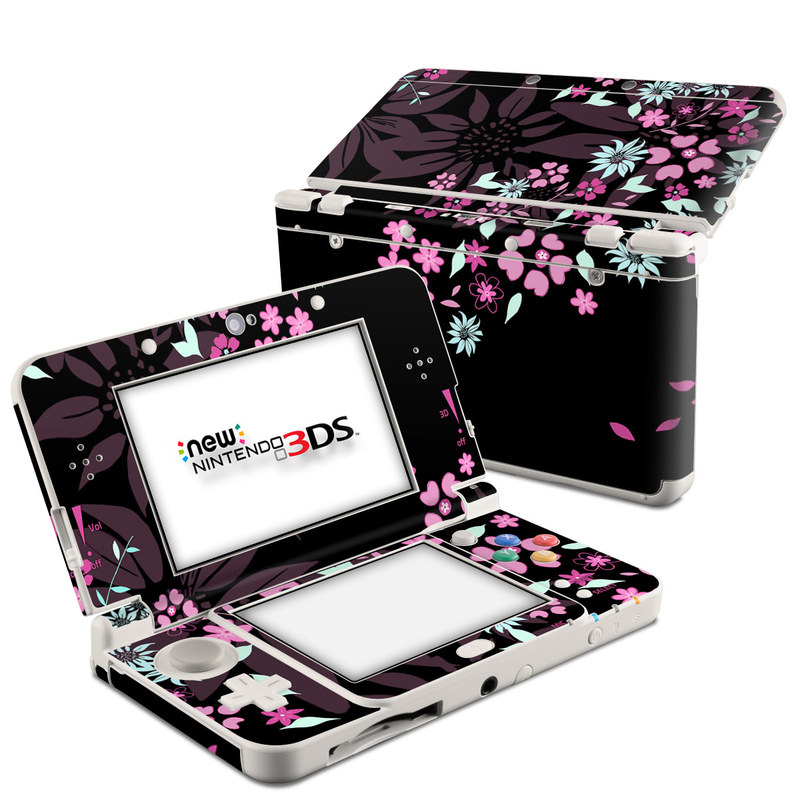 Dark Flowers Nintendo 3DS (2015) Skin