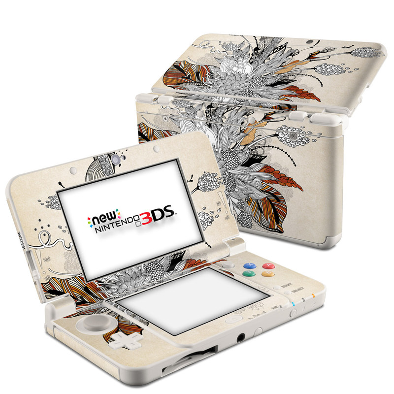 Fall Floral Nintendo 3DS (2015) Skin