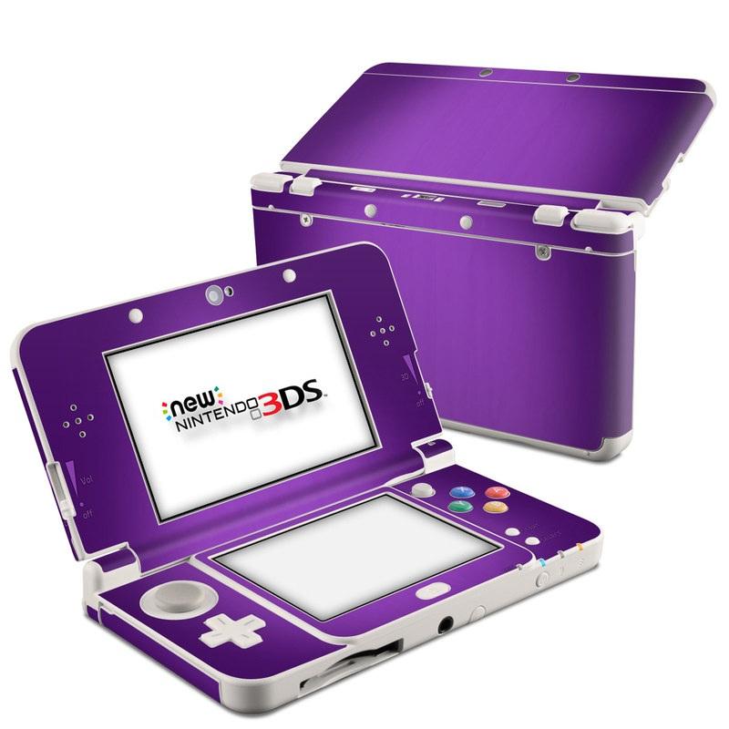 Nintendo 3DS Skin design of Violet, Purple, Lilac, Pink, Magenta, Wallpaper with black, purple, blue colors