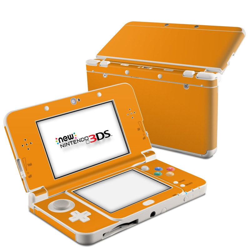 Nintendo 3DS Skin design of Orange, Yellow, Brown, Text, Amber, Font, Peach with orange colors