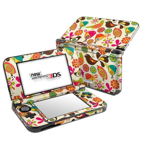 Bird Flowers Nintendo 3DS LL Skin