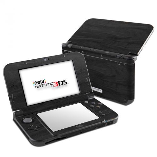 Black Woodgrain Nintendo 3DS LL Skin