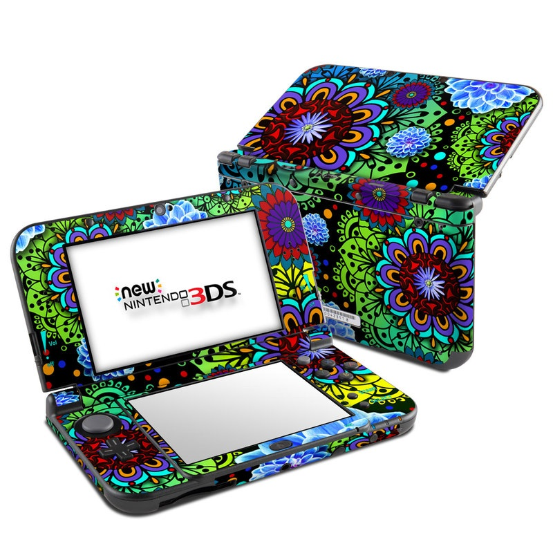 Funky Floratopia Nintendo 3DS LL Skin
